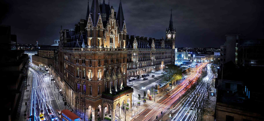 The exterior of St. Pancras Renaissance London Hotel