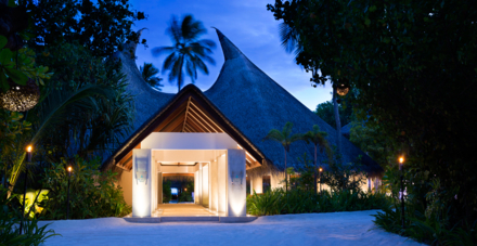 The entrance to Per Aquum Huvafen Fushi