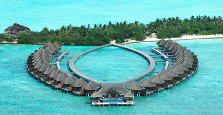 An aerial view of the Taj Exotica Resort & Spa