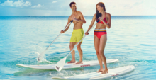 Paddle boarding at the Taj Exotica Resort & Spa