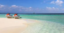 Jet skiing at the W Resort & Spa Maldives