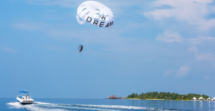 Parasailing at the W Retreat & Spa Maldives