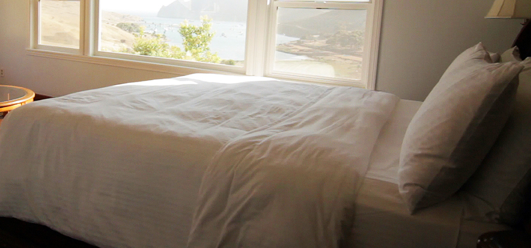 A guest room at Banning House Lodge in Avalon on Catalina Island