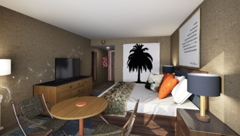 Hotel Hermosa guest room