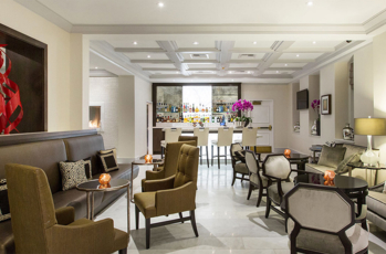 The chic setting at Mosaic Hotel in Beverly Hills