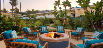 The firepit at Pavilion Hotel in Avalon, Catalina Island