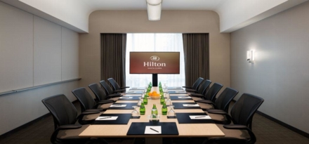 The Hilton Santa Clara's boardroom