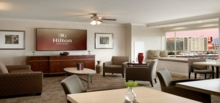 The Hilton Santa Clara's executive lounge