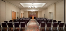 The Hilton Santa Clara's meeting room