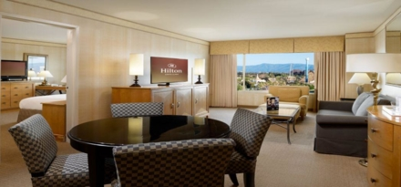 A suite at the Hilton Santa Clara
