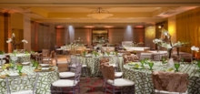 A wedding reception venue at the Hilton Santa Clara