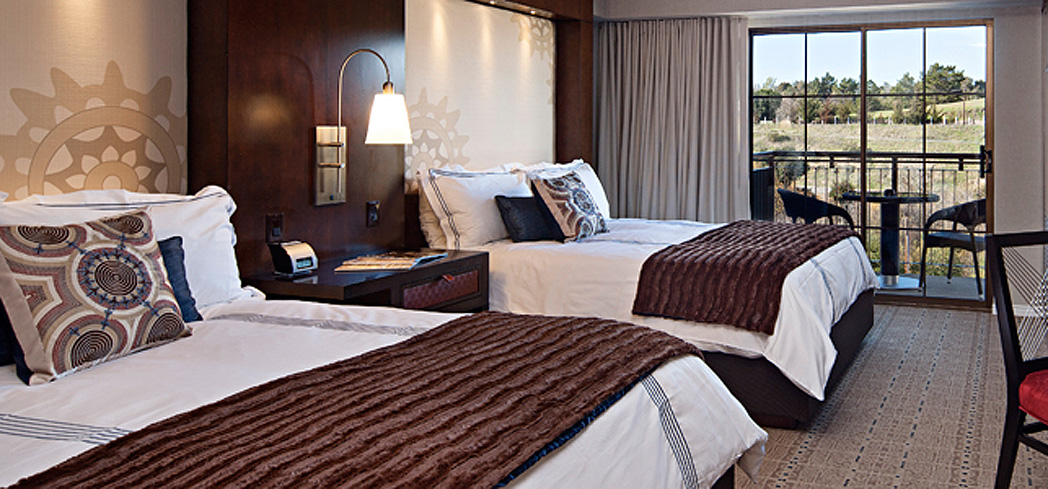 A guest room at Chumash Casino Resort Hotel & Spa in Santa Ynez, California