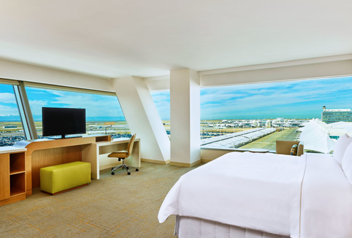 One of the rooms at The Westin Denver International Airport.