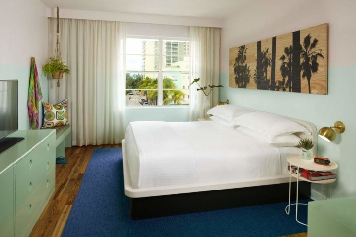 One of the rooms at The Hall South Beach.