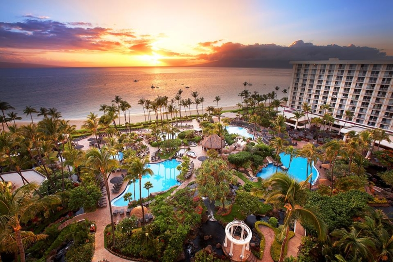 An aerial overlook of The Westin Ka'anapali Resort and Spa