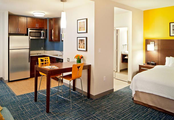 The studio suite at the Residence Inn by Marriott Boston Back BayFenway.