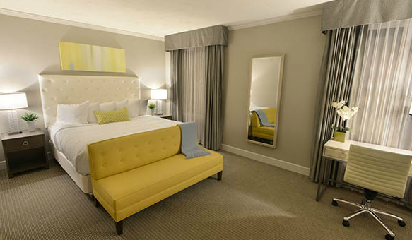 One of the rooms at the Magnolia Hotel.