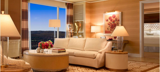 A guest room at Wynn Las Vegas in Nevada