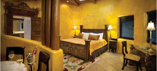 The Romance Room at El Monte Sagrado in Taos, New Mexico.