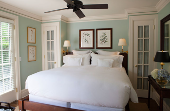 The room in one of the suites at the East Hampton Point Hotel.