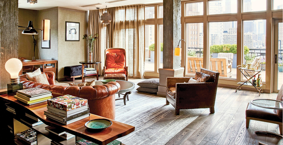 The living room of the Soho Grand's South Loft
