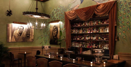 The Soho Grand's club room and bar