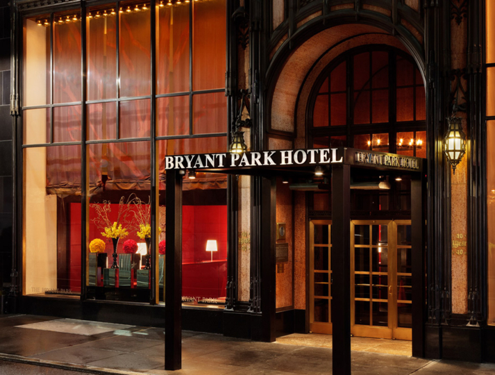 The entrance at Bryant Park Hotel