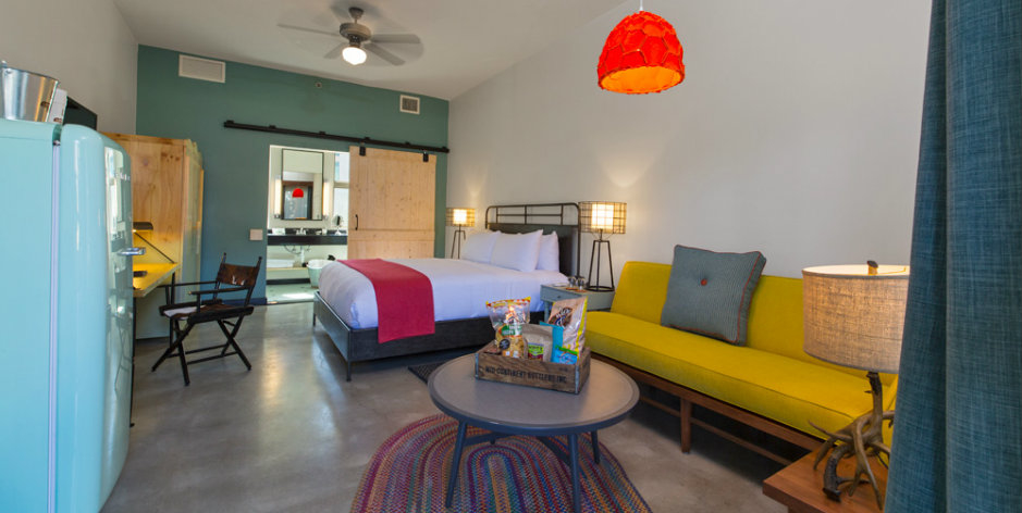 One of the guest rooms at the Lone Star Court at The Domain.