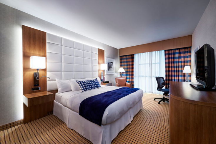 One of the rooms at Radisson Hotel & Suites Austin Downtown.