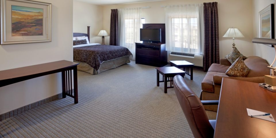 One of the rooms at Staybridge Suites Austin Northwest.
