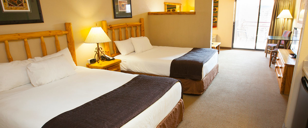 A standard room at the Great Wolf Lodge in Grapevine.