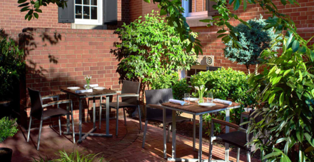 Ashlar Restaurant and Bar's Patio