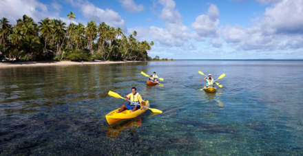 Kayaking on Savusavu Bay