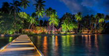 The exterior of the Jean Michael Cousteau Fiji Islands Resort