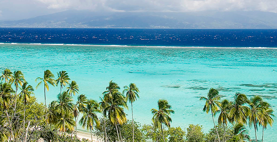 The lagoon and ocean at Sofitel Moorea Ia Ora Beach Resort