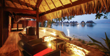 The terrace of an Over Water Bungalow