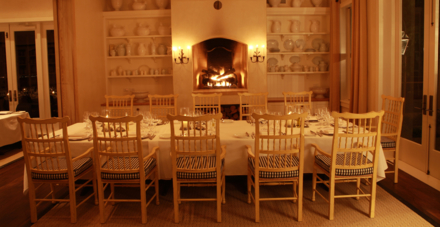 Fireside seating in the Main Dining Room