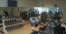 The gym at The Lodge at Kauri Cliffs
