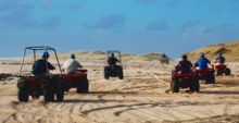4-wheeling on the beach