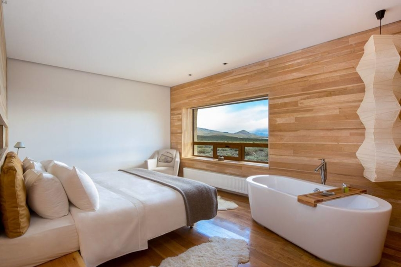 A standard room at the Tierra Patagonia Hotel & Spa.