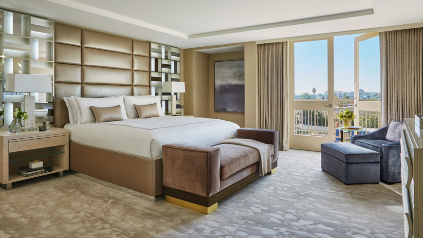 The Royal Suite guest room at Viceroy L'Ermitage Beverly Hills