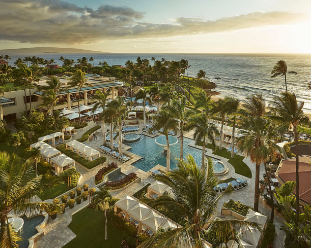 An aerial view of Four Seasons Resort Maui at Wailea