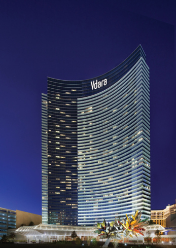 The exterior of Vdara Hotel & Spa in Las Vegas, Nevada