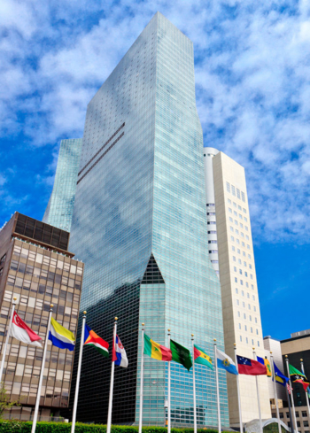 The exterior of ONE UN New York