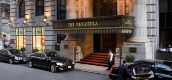 An exterior shot of The Peninsula New York