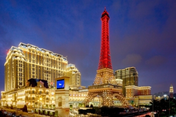 The Parisian Macao illuminates the night