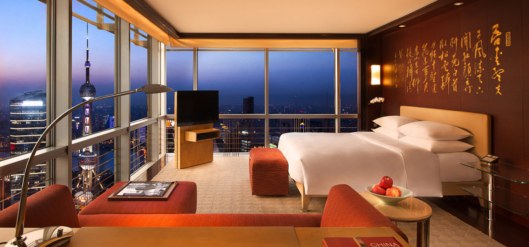 The Grand Club Deluxe King Room at Grand Hyatt Shanghai
