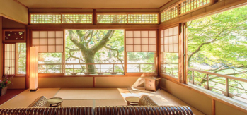Hoshinoya Kyoto's guest rooms and suites make soothing sanctuaries