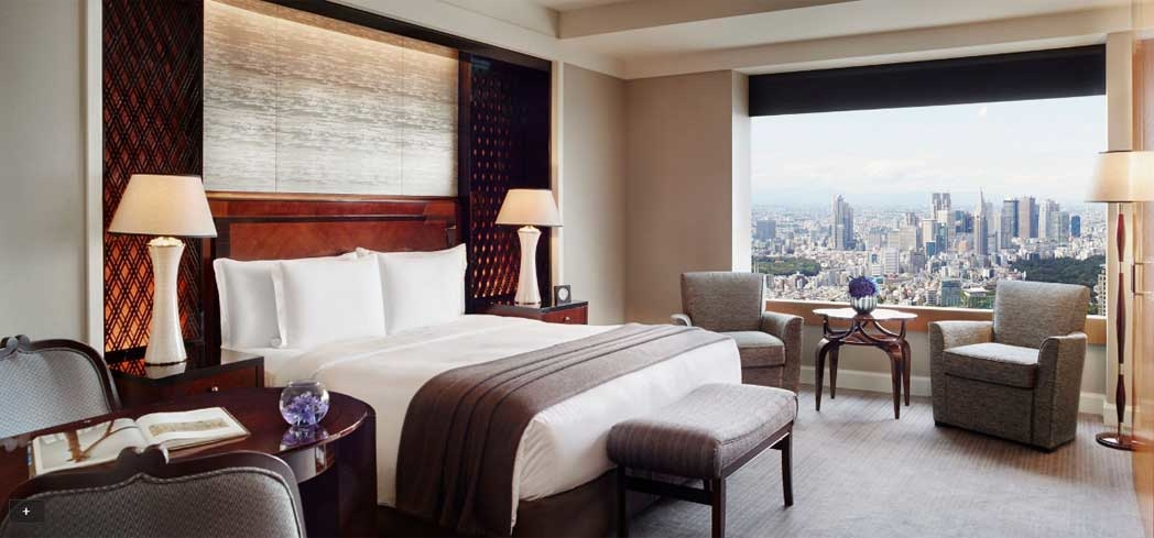 A guest room at The Ritz-Carlton, Tokyo