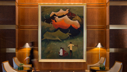 The lobby artwork